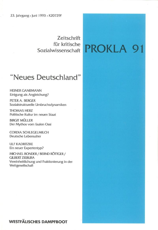 Ansehen Bd. 23 Nr. 91 (1993): Neues  Deutschland