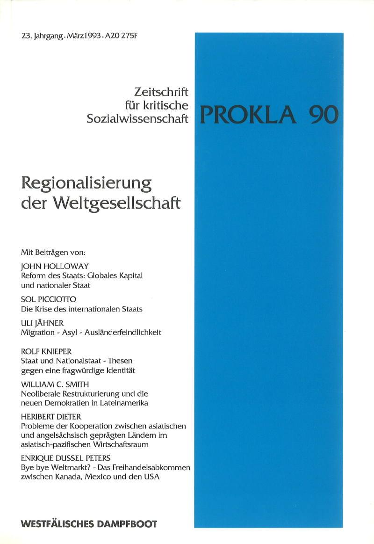 Ansehen Bd. 23 Nr. 90 (1993): Regionalisierung der Weltgesellschaft