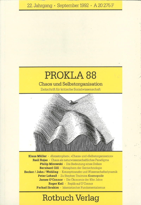 Ansehen Bd. 22 Nr. 88 (1992): Chaos, Selbstorganisation und Gesellschaft