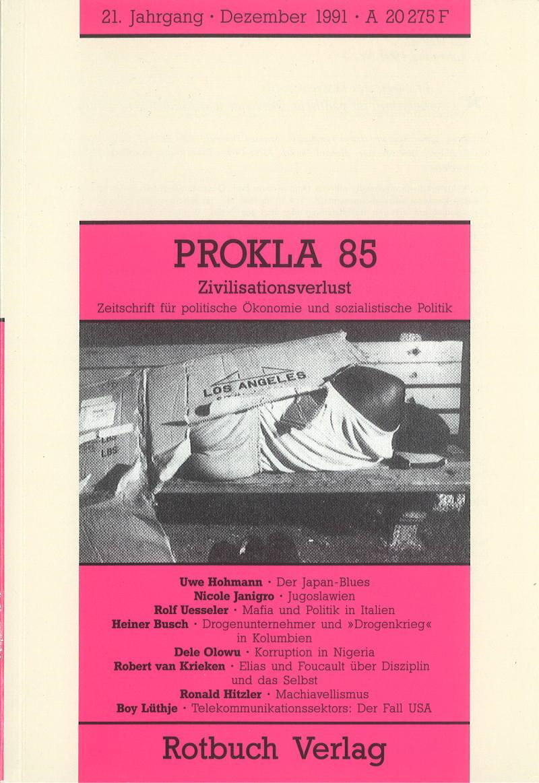 Ansehen Bd. 21 Nr. 85 (1991): Kriminalität und Zivilisationsverlust