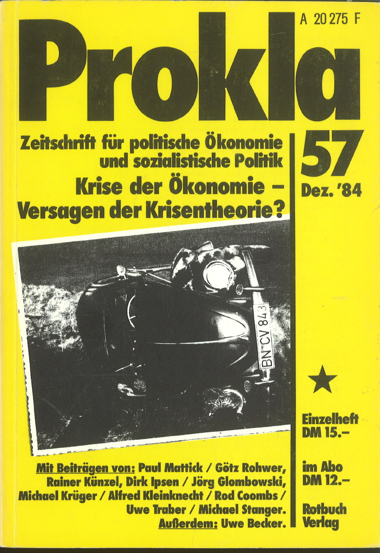 Ansehen Bd. 14 Nr. 57 (1984): Ökonomische Krise - Versagen der Krisentheorie?