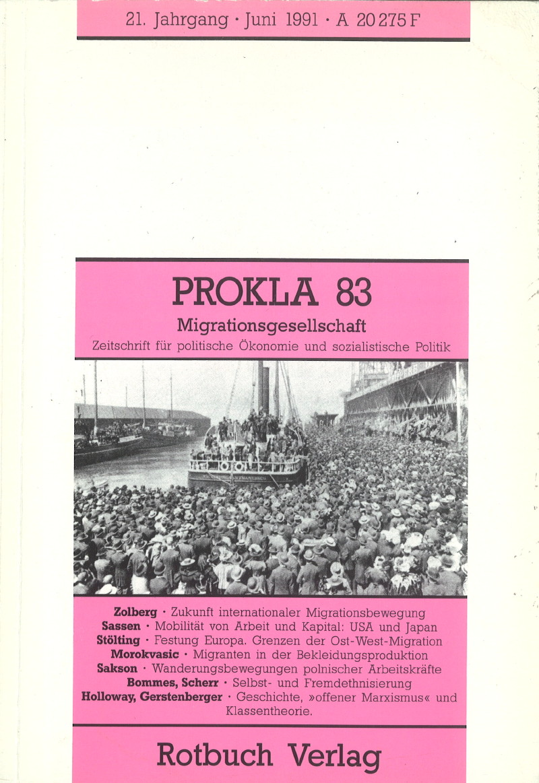 Ansehen Bd. 21 Nr. 83 (1991): Migrationsgesellschaft