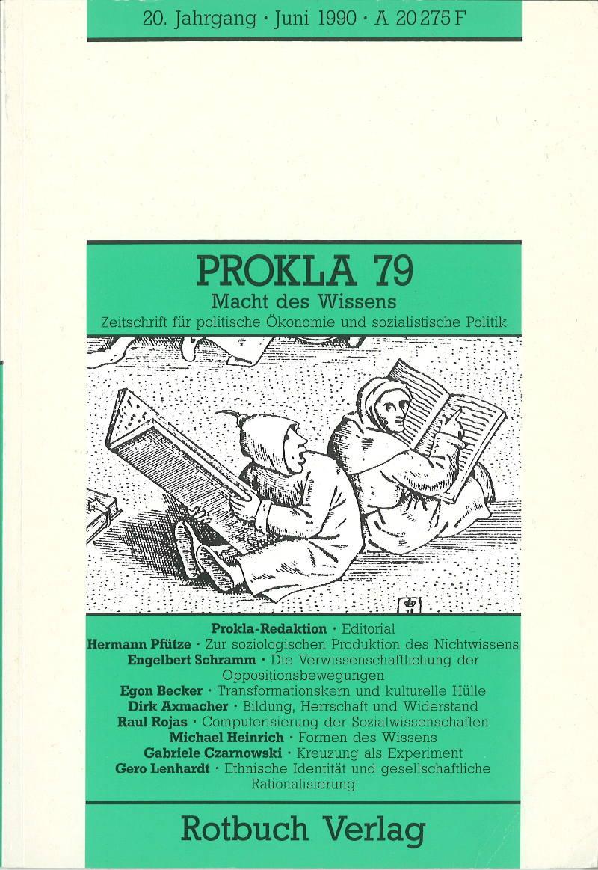 Ansehen Bd. 20 Nr. 79 (1990): Macht des Wissens