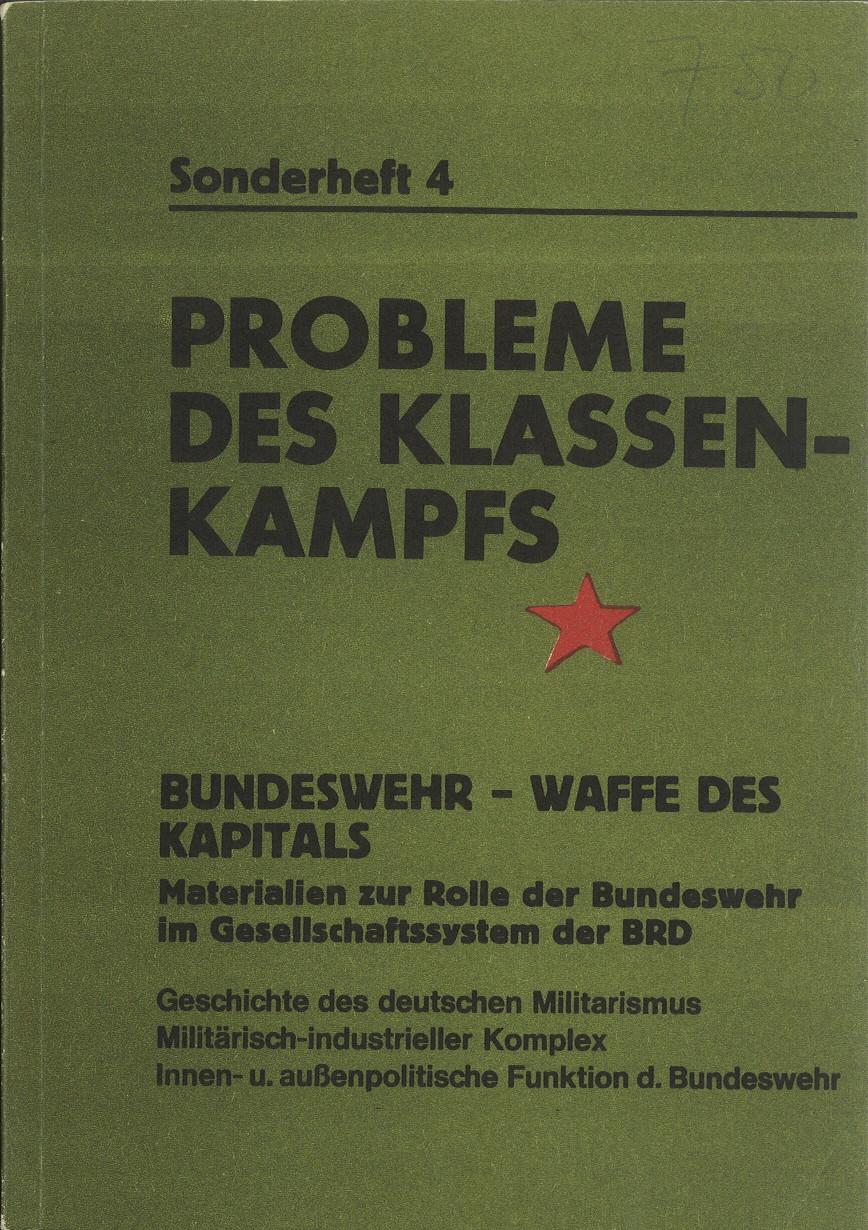 Ansehen Bd. 1 Nr. SH4 (1971): Bundeswehr - Waffe des Kapitals - Sonderheft 4
