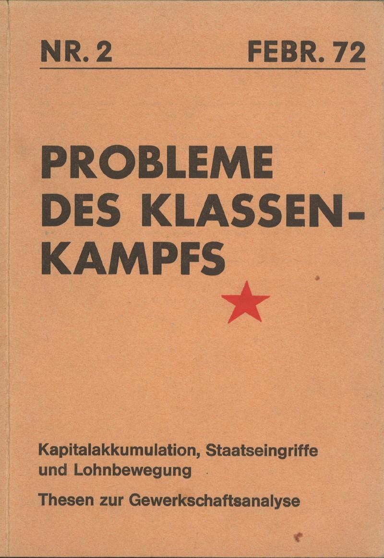Ansehen Bd. 2 Nr. 2 (1972): Probleme des Klassenkampfes