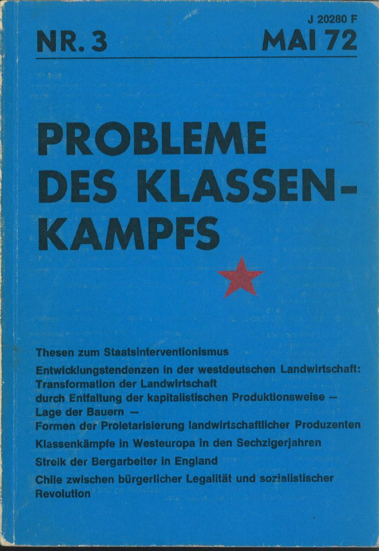 Ansehen Bd. 2 Nr. 3 (1972): Probleme des Klassenkampfes