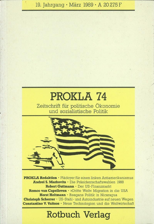 Ansehen Bd. 19 Nr. 74 (1989): Bye-Bye, USA
