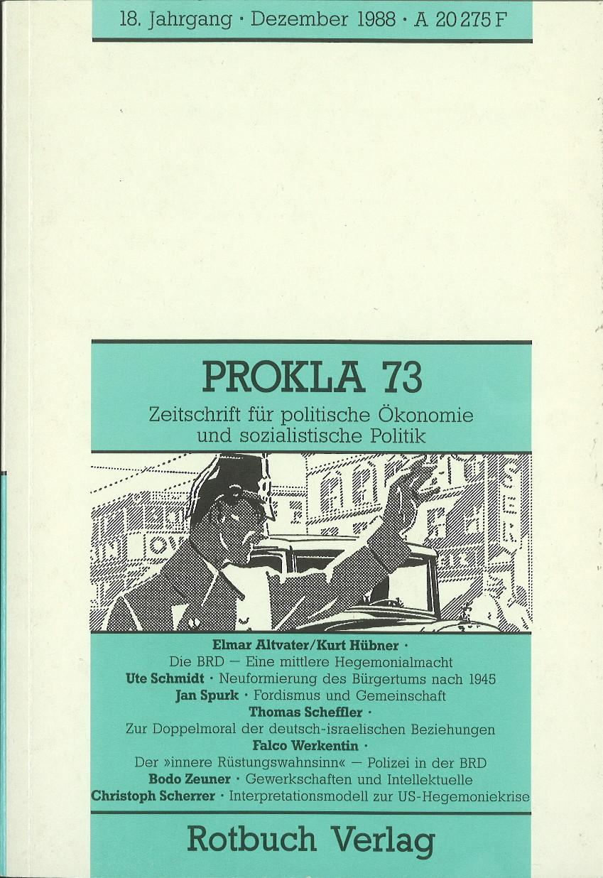 Ansehen Bd. 18 Nr. 73 (1988): BRD wird 40 - Prokla gratuliert