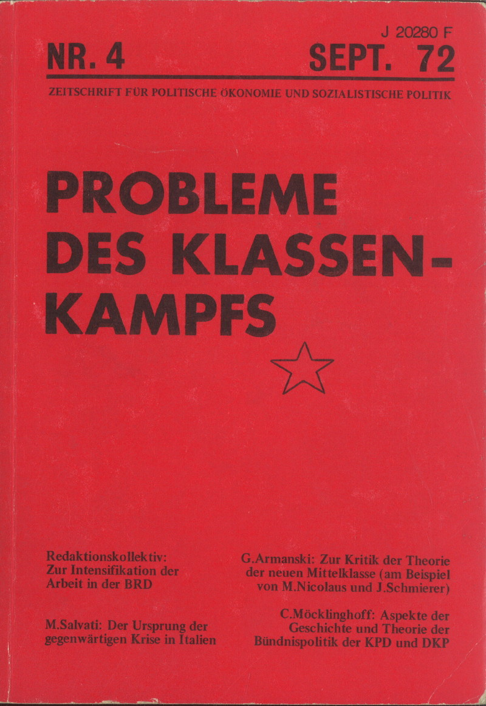 Ansehen Bd. 2 Nr. 4 (1972): Probleme des Klassenkampfes