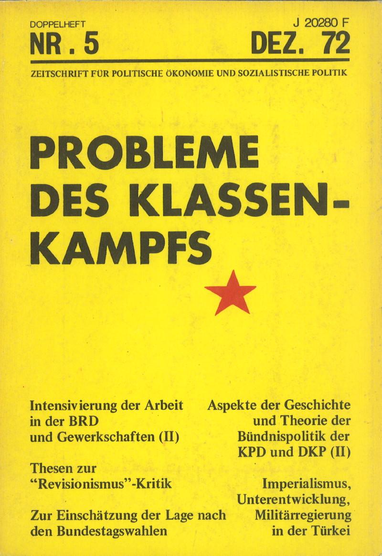 Ansehen Bd. 2 Nr. 5 (1972): Probleme des Klassenkampfes