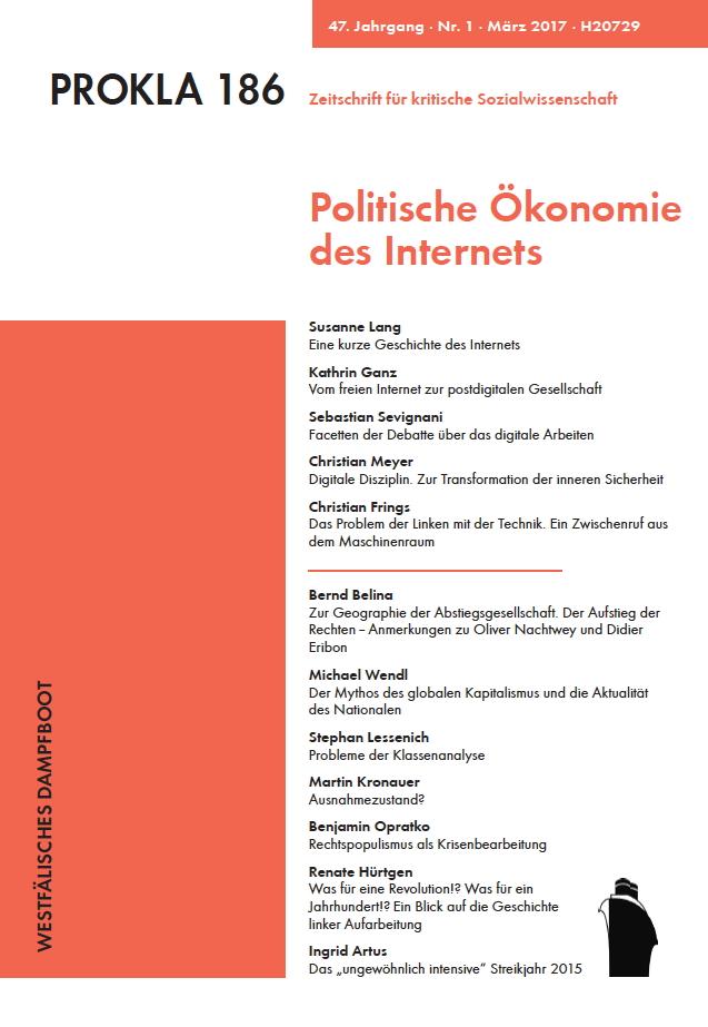 Ansehen Bd. 47 Nr. 186 (2017): Politische Ökonomie des Internets