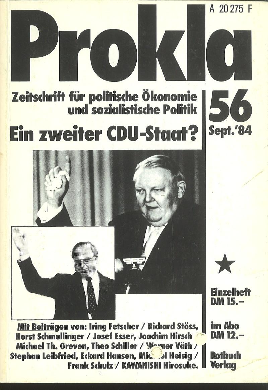 Ansehen Bd. 14 Nr. 56 (1984): Ein zweiter CDU-Staat?