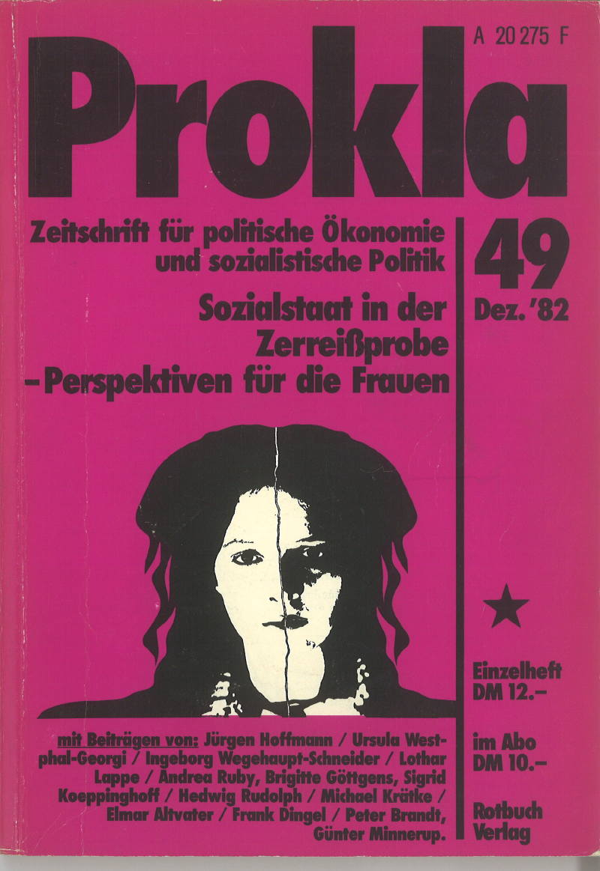 Ansehen Bd. 12 Nr. 49 (1982): Sozialstaat in der Zereißprobe - Perspektiven für die Frauen