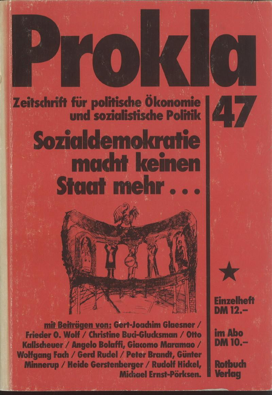 Ansehen Bd. 12 Nr. 47 (1982): Sozialdemokratie macht keinen Staat mehr...
