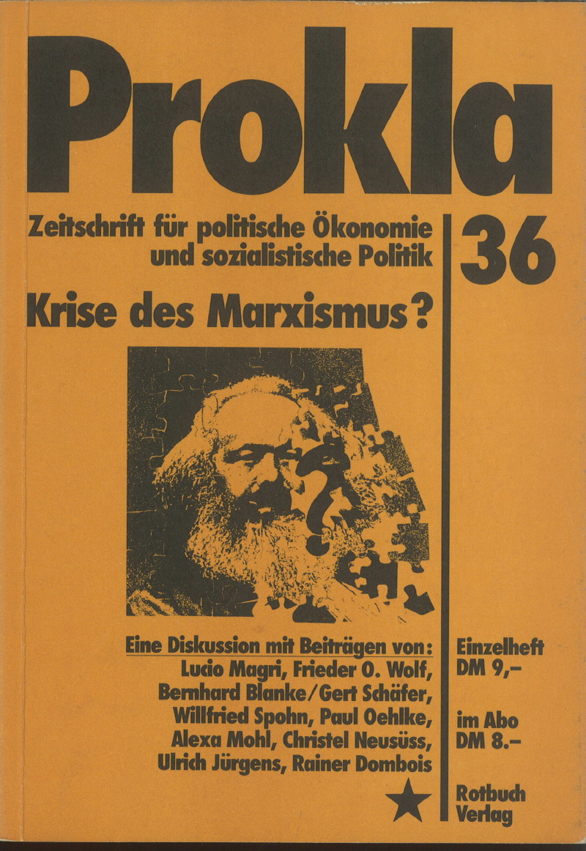 Ansehen Bd. 9 Nr. 36 (1979): Krise des Marxismus?