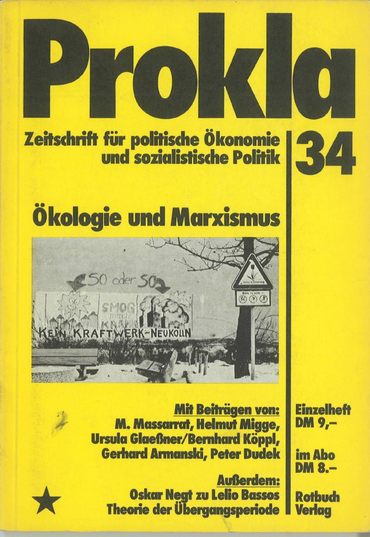 Ansehen Bd. 9 Nr. 34 (1979): Ökologie und Marxismus