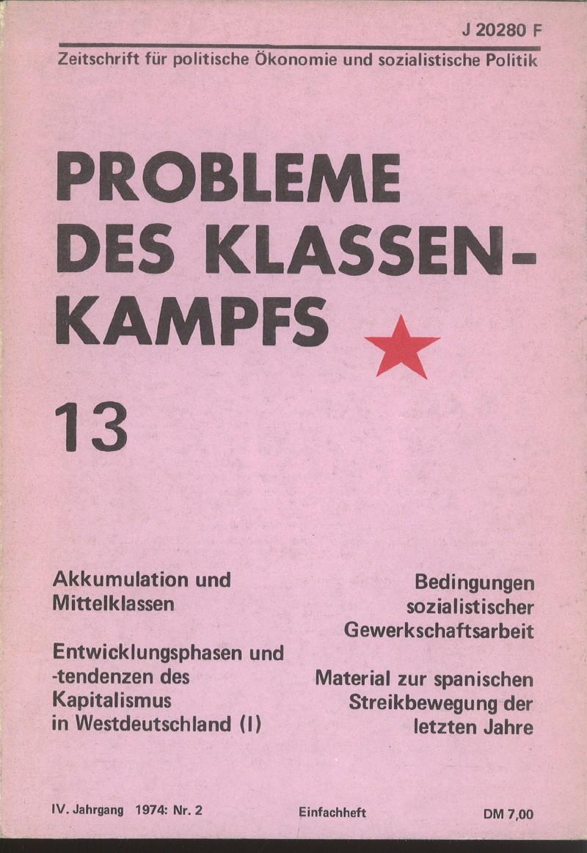 Ansehen Bd. 4 Nr. 13 (1974): Probleme des Klassenkampfs