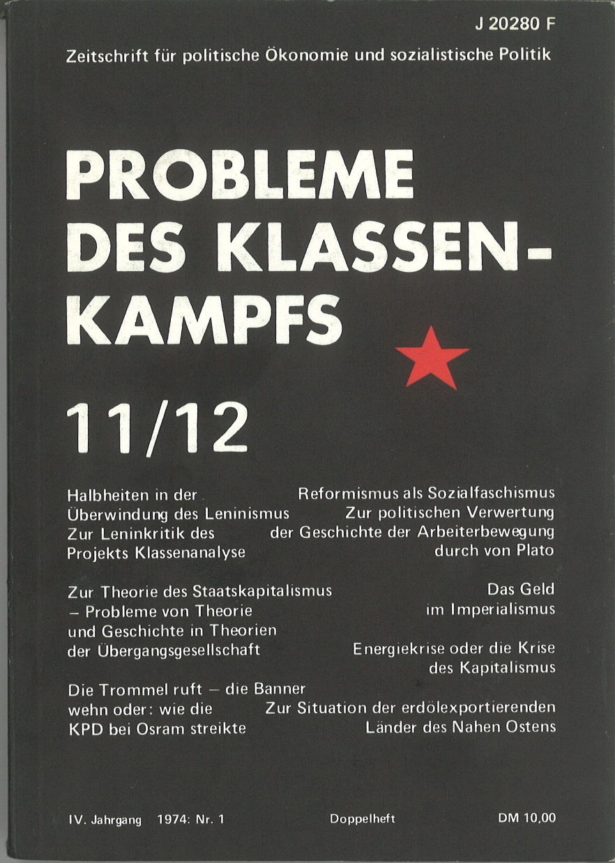 Ansehen Bd. 4 Nr. 11/12 (1974): Probleme des Klassenkampfs