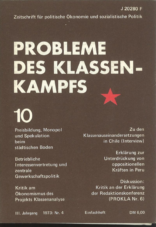 Ansehen Bd. 3 Nr. 10 (1973): Probleme des Klassenkampfs