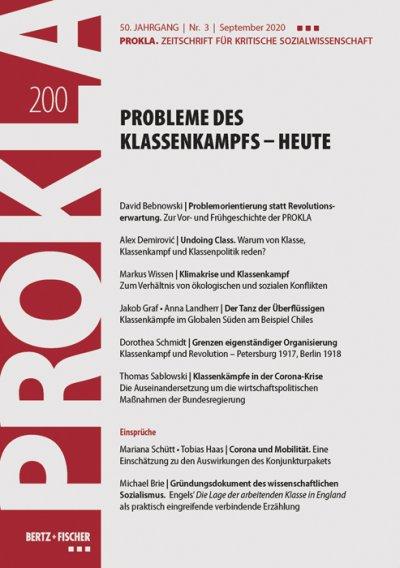Ansehen Bd. 50 Nr. 200 (2020): Probleme des Klassenkampfs