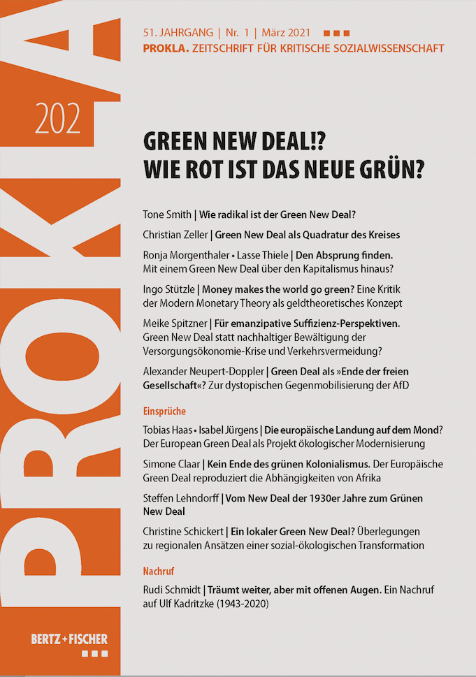 Ansehen Bd. 51 Nr. 202 (2021): Green New Deal!? Wie rot ist das neue Grün?