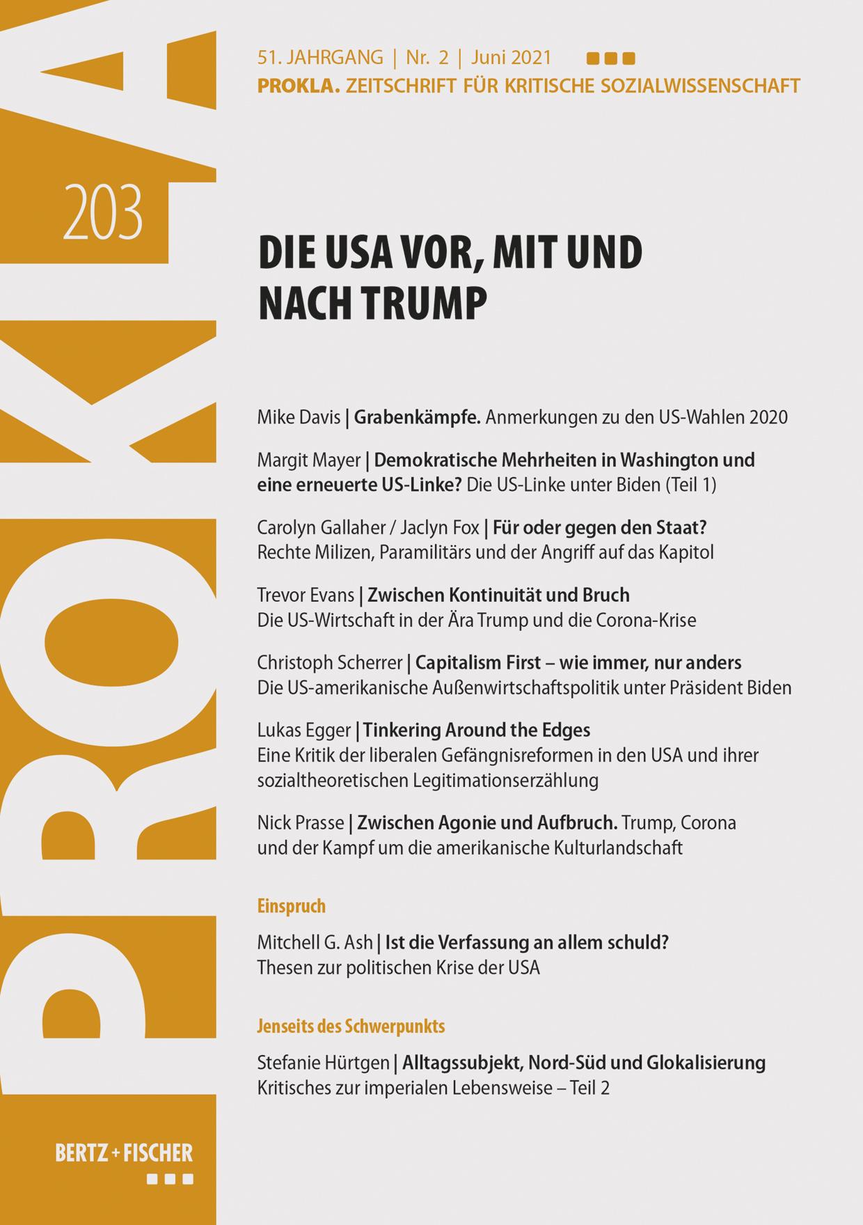 Ansehen Bd. 51 Nr. 203 (2021): Die USA vor, mit und nach Trump