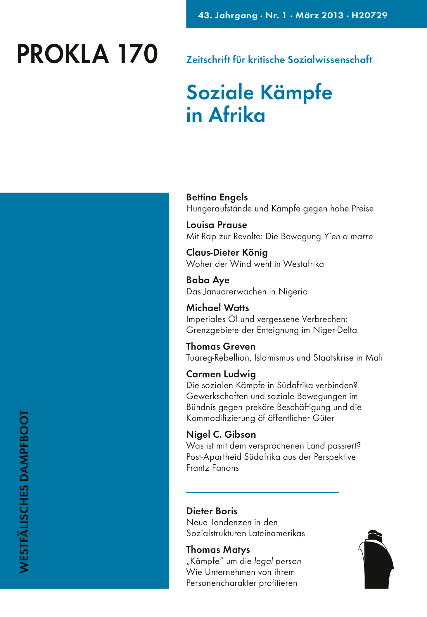 Ansehen Bd. 43 Nr. 170 (2013): Soziale Kämpfe in Afrika