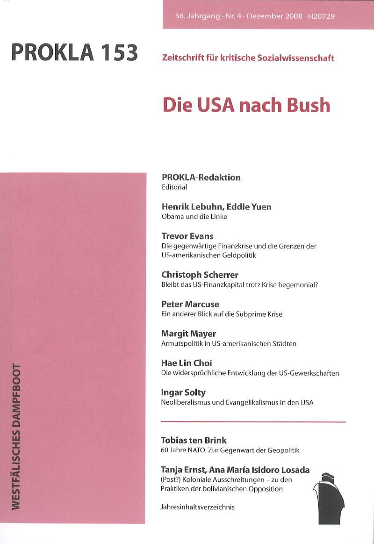 Ansehen Bd. 38 Nr. 153 (2008): Die USA nach Bush