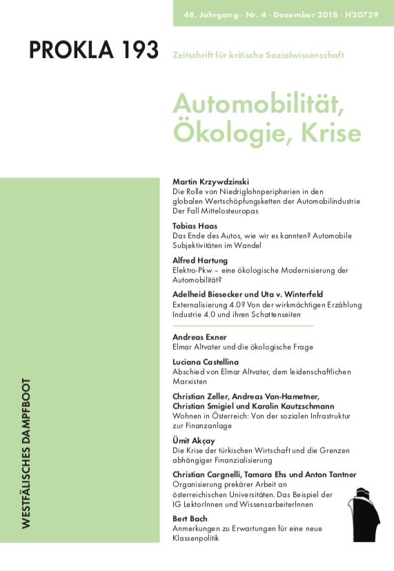 Ansehen Bd. 48 Nr. 193 (2018): Automobilität –Krise – Ökologie