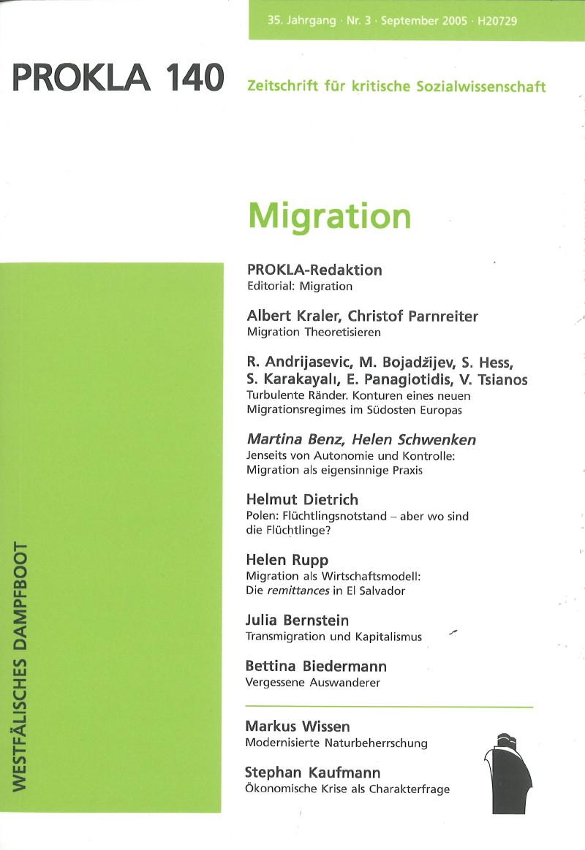 Ansehen Bd. 35 Nr. 140 (2005): Migration