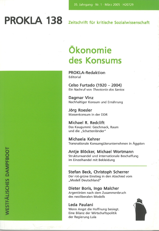 Ansehen Bd. 35 Nr. 138 (2005): Ökonomie des Konsums