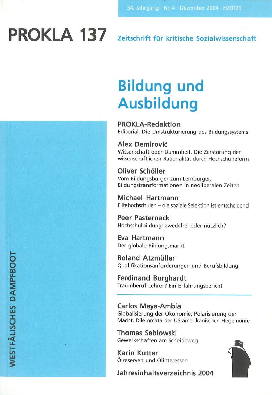 Ansehen Bd. 34 Nr. 137 (2004): Bildung und Ausbildung