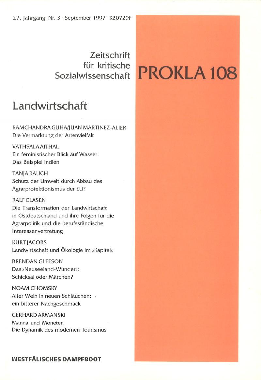Ansehen Bd. 27 Nr. 108 (1997): Landwirtschaft