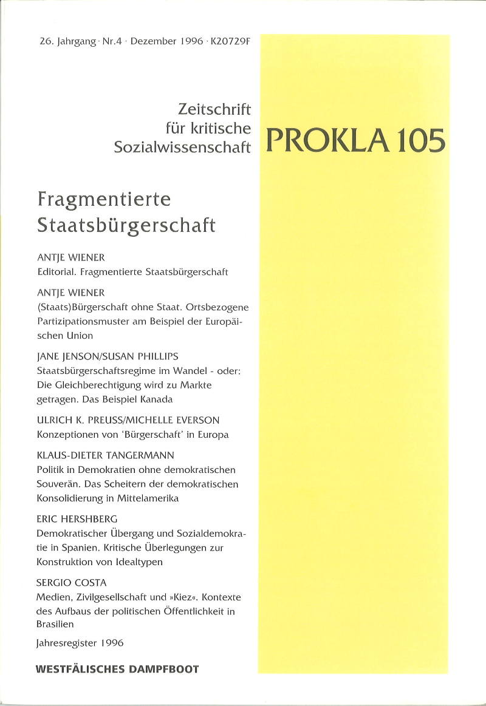 Ansehen Bd. 26 Nr. 105 (1996): Fragementierte Staatsbürgerschaft